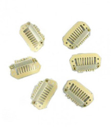 20pcs Blonde 8 Teeth Hair Extension Clips