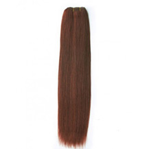 "10"" Vibrant Auburn (#33) Straight Indian Remy Hair Wefts"