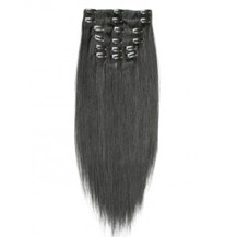 "22"" Off Black (#1b) 7pcs Clip In Synthetic Hair Extensions"