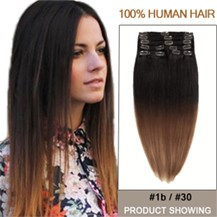 """20"""" Two Colors #1b And #30 Ombre Hair Extensions"""
