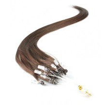 "16"" Chocolate Brown (#4) 100S Micro Loop Remy Human Hair Extensions"