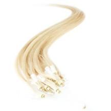 "24"" Bleach Blonde (#613) 100S Micro Loop Remy Human Hair Extensions"