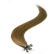 "16"" Ash Brown (#8) 50S Stick Tip Human Hair Extensions"