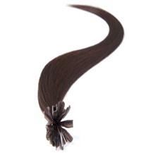 "20"" Dark Brown (#2) 100S Nail Tip Human Hair Extensions"