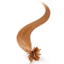 "22"" Golden Brown (#12) 100S Nail Tip Human Hair Extensions"