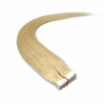 "16"" Ash Blonde (#24) 20pcs Tape In Remy Human Hair Extensions"