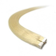 "18"" Bleach Blonde (#613) 20pcs Tape In Remy Human Hair Extensions"