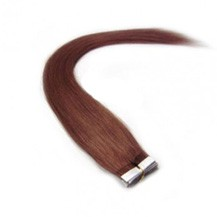 "20"" Vibrant Auburn (#33) 20pcs Tape In Remy Human Hair Extensions"