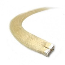 "20"" White Blonde (#60) 20pcs Tape In Remy Human Hair Extensions"