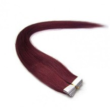 "22"" Bug 20pcs Tape In Remy Human Hair Extensions"