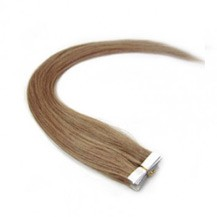 "24"" Golden Brown (#12) 20pcs Tape In Remy Human Hair Extensions"