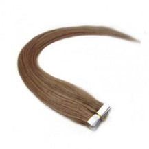 "28"" Light Brown (#10) 20pcs Tape In Remy Human Hair Extensions"
