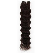 "16"" Dark Brown (#2) Deep Wave Indian Remy Hair Wefts"