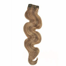"12"" Brown/Blonde (#4/27) Body Wave Indian Remy Hair Wefts"