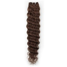 "12"" Chocolate Brown (#4) Deep Wave Indian Remy Hair Wefts"