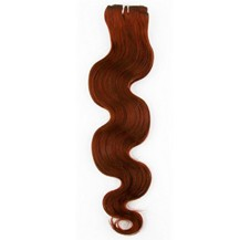 """12"""" Vibrant Auburn (#33) Body Wave Indian Remy Hair Wefts"""