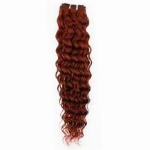 "12"" Vibrant Auburn (#33) Deep Wave Indian Remy Weave Hair"