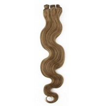 """14"""" Ash Brown (#8) Body Wave Indian Remy Hair Wefts"""