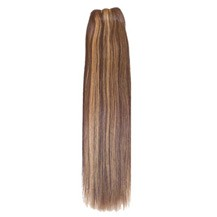 "14"" Brown/Blonde (#4/27) Straight Indian Remy Hair Wefts"
