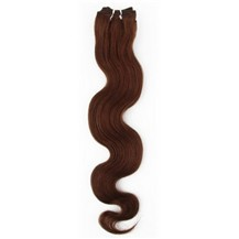 """14"""" Chestnut Brown (#6) Body Wave Indian Remy Hair Wefts"""