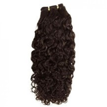 "14"" Chocolate Brown (#4) Curly Indian Remy Hair Wefts"