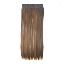 "24"" Brown Blonde(#4/27) One Piece Clip In Synthetic Hair Extensions"