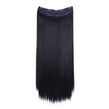 """24"""" Dark Brown(#2) One Piece Clip In Synthetic Hair Extensions"""