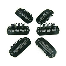 40pcs 24mm Black Clips for Hair Extensions / Wig / Weft
