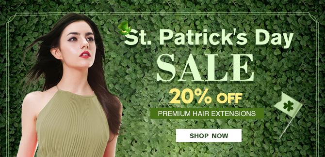 2018 saint patrick's day hair extensions sale online