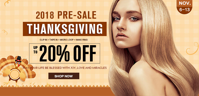 2018 thanksgiving day hair extensions sale online