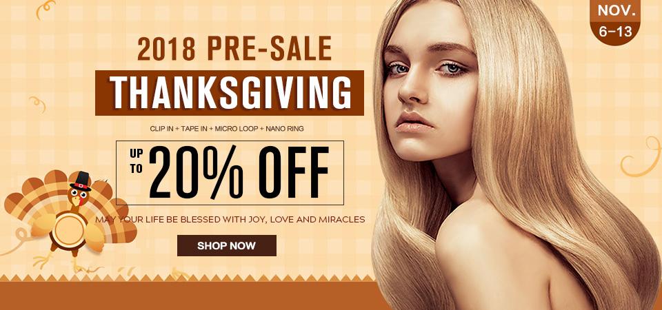 2018 Thanksgiving Presale  100% Human Hair Deals  5d921b73f