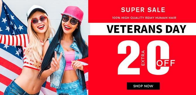 2018 veterans day hair extensions sale online