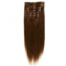 16 inches Chocolate Brown (#4) 7pcs Clip In Indian Remy Human Hair Extensions