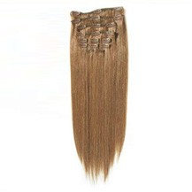 "16"" Golden Blonde (#16) 7pcs Clip In Indian Remy Human Hair Extensions"