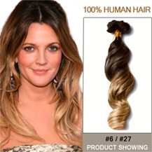 """16"""" Two Colors #6 And #27 Wavy Ombre Hair Extensions"""