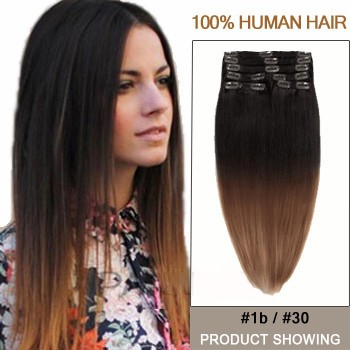 """18"""" Two Colors #1b And #30 Ombre Hair Extensions"""