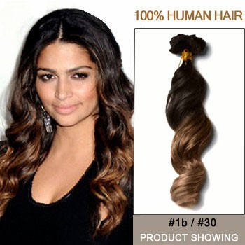 """18"""" Two Colors #1b And #30 Straight Ombre Hair Extensions"""