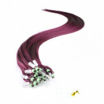 "16"" 99J 50S Micro Loop Remy Human Hair Extensions"