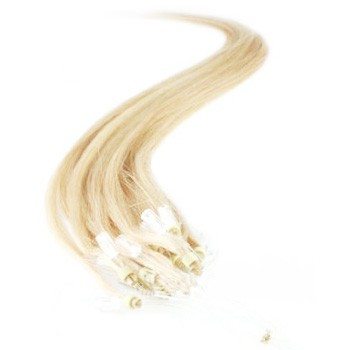 "16"" Bleach Blonde (#613) 100S Micro Loop Remy Human Hair Extensions"