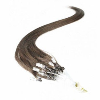 "16"" Dark Brown (#2) 100S Micro Loop Remy Human Hair Extensions"