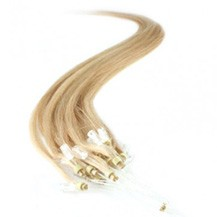 "18"" Ash Blonde (#24) 100S Micro Loop Remy Human Hair Extensions"