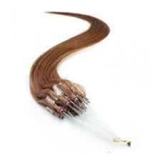 "22"" Vibrant Auburn (#33) 100S Micro Loop Remy Human Hair Extensions"
