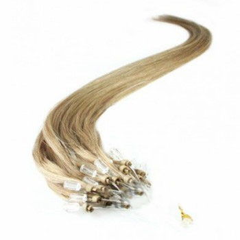 """24"""" Golden Blonde (#16) 100S Micro Loop Remy Human Hair Extensions"""
