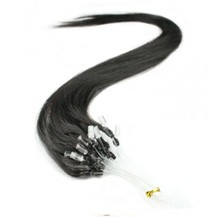 "24"" Off Black (#1b) 100S Micro Loop Remy Human Hair Extensions"