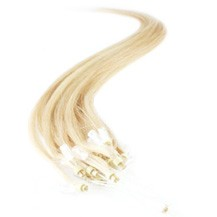 "28"" Bleach Blonde (#613) 50S Micro Loop Remy Human Hair Extensions"