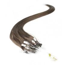 """28"""" Dark Brown (#2) 50S Micro Loop Remy Human Hair Extensions"""