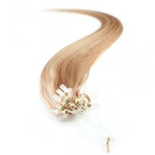 """28"""" Strawberry Blonde (#27) 100S Micro Loop Remy Human Hair Extensions"""