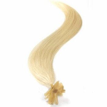 """16"""" Bleach Blonde (#613) 50S Nail Tip Human Hair Extensions"""