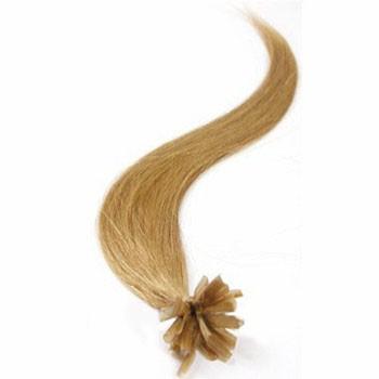 "18"" Golden Blonde (#16) 50S Nail Tip Human Hair Extensions"