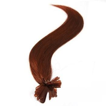 "18"" Vibrant Auburn (#33) 100S Nail Tip Human Hair Extensions"